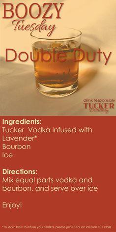 Lavender Infused Vodka and Bourbon