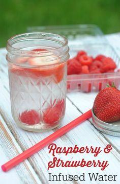 Raspberry & Strawberry Infused Water [ SkinnyFoxDetox.com ] #skinny #detox #health