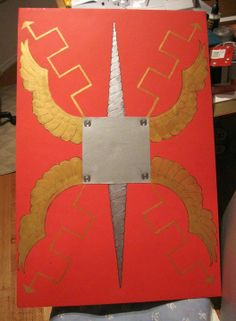 How to Make a Roman Shield : 8 Steps - Instructables Ancient Egyptian Art, Ancient Rome, Ancient Aliens, Ancient Greece, Shield Template, Army Crafts, Dyi Crafts, Roman Shield, Roman Sword