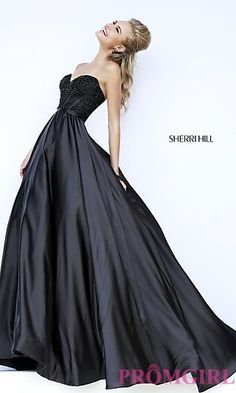 Strapless Sweetheart Sherri Hill Ball Gown at PromGirl.com