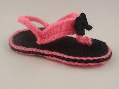 Girl Flip Flops Crochet Flip Flops for Girl by ToppyToppyKnits, $12.00