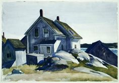 House at the Fort, Gloucester / Edward Hopper / 1924 / Watercolor over graphite pencil on paper American Realism, American Artists, Edward Hopper Paintings, Old Fort, Great Paintings, Grand Palais, Paul Gauguin, Gloucester, Museum Of Fine Arts