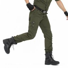69c5267441 Tactical Pants Male 101 Airborne Casual Plus Size Cotton Trouser Multi  Pocket Military Style Army Camouflage Men's Cargo Pants