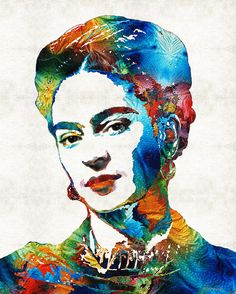Frida Kahlo Art - Viva La Frida - By Sharon Cummings by Sharon Cummings #frida #fridakahlo