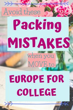 Are you moving to Europe for school or job? Here are 9 packing mistakes when moving to Europe you should avoid. Read HERE so you can prepare even better! College Packing, College Essentials, College Hacks, College Life, Back To College Supplies, Going Back To College, School Supplies, Winter Semester, I Am Sad