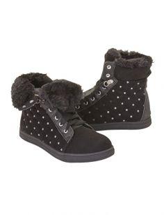 Fur High Top Sneakers
