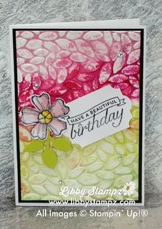 Watercolor Embossing