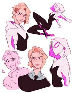 Drawing Marvel Ewwo guess what i just watched recently by - Character Drawing, Comic Character, Character Design, Spider Girl, Spiderman Kunst, Spiderman Spider, Arte Sketchbook, Gwen Stacy, Spider Verse