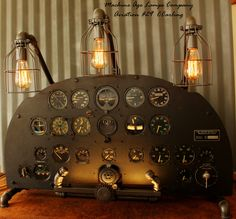 Vintage WWII P-38 Aviation Instrument Control Panel Lamp CC #29