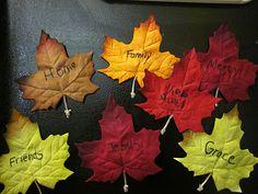 Thankful Leaf Magnets .... love this idea!