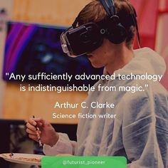 Reposting @futurist_pioneer: #Sciencefiction author Arthur C. Clarke believes that #technology and #magic go hand-in-hand.⠀ What do you think?⠀ ⠀ #tech #quotes #techquotes #scifi #science #innovation #inventions #VR #AR #virtualreality #technological #IoT #business #gadgets #internet #startups #entrepreneur