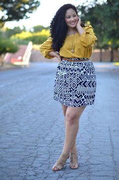 Fashionista: Plus Size Mini Skirt