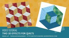 Video tutorial: tridimensional effects for your quilt | Sewn Up