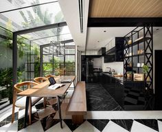 102 Potted Olive Plants Cover the Facade of This Bangkok Home - Dwell