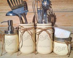 Mason Jar Kitchen Set-Housewarming by CountryHomeandHeart on Etsy