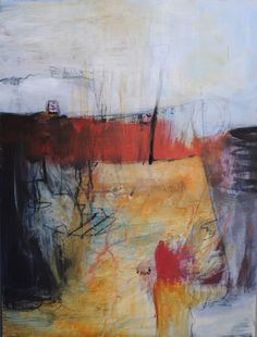 """""""Red Drama"""" by Donne Bitner.  Acrylic"""