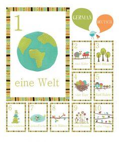 no way. I just found flash cards auf Deutsch!!