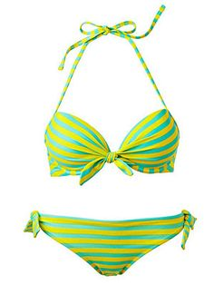 Aerie bikini will help enhance chest with stripes and just the right amount of padding!
