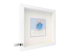 Geschenke zur Geburt, Geschenke zur Taufe, Schutzengel zur Geburt, Schutzengel Bilder, Filzengel Holzkopf blau