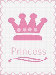 Ravelry: Princess Crochet Afghan Pattern Graph pattern by Waiyi Choi Crochet C2c Pattern, Crochet Cross, Afghan Crochet Patterns, Cross Stitch Embroidery, Embroidery Patterns, Cross Stich Patterns Free, Taco Pie, Kids Blankets, Fair Isle Pattern