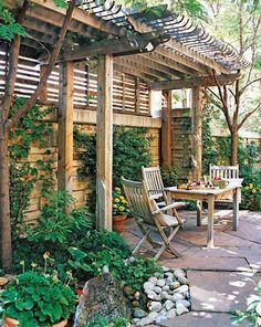 Transform your yard into a private oasis with a pergola. More ways to add privacy: http://www.bhg.com/home-improvement/patio/designs/patio-privacy-ideas/?socsrc=bhgpin072612privacypergola#page=4 #patio #privacy
