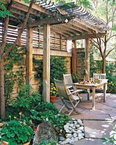 patio privacy ideas - Private Patio Ideas