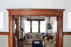 Dark Wood Trim On Pinterest Blue Grey Rooms Natural
