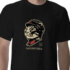 chairman meow outlined tshirt