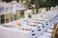 Striped #napkins add a preppy touch   Photography: www.jasmine-star.com