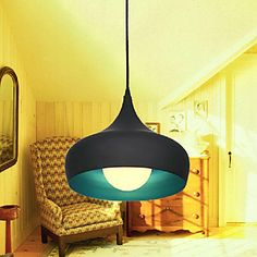 Max 60W Modern/Contemporary / Retro / Bowl Mini Style Painting Pendant Lights Dining Room / Kitchen / Hallway – USD $ 36.99