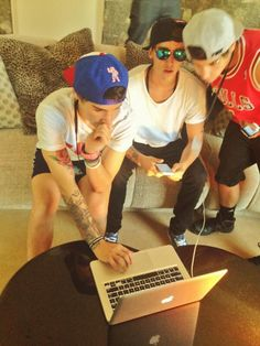 the boys are doing a live twitcam right now!!