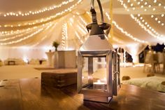 Candle lanterns suit the mood perfectly in the Oyster Pearl tent!