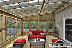 Wooden patio pergola