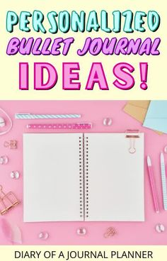 The best personalized bullet journal ideas to make your planner best suited to you! #plannerpages #bulletjournalideas Bullet Journal Gifts, Bullet Journal Printables, Bullet Journal Inspiration, Journal Ideas, Bullet Journal For Beginners, Journal Covers, Planner Pages, Good Advice, Make It Yourself