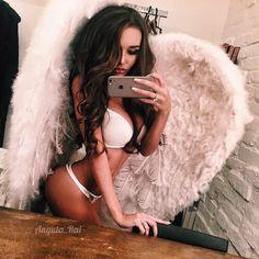 Victoria's Secret angel costume for Halloween or any boudoir shoot!
