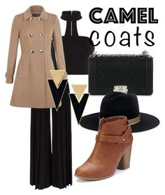 """#camel#coat  brown"" by anamomochi ❤ liked on Polyvore featuring Chanel, Janessa Leone, Marco de Vincenzo, Miss Selfridge, LC Lauren Conrad and Yves Saint Laurent"