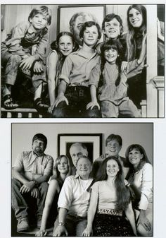 The Walton's children during the show, then later. The Waltons Tv Show, Walton Family, Richard Thomas, John Boy, Family Show, Old Shows, Vintage Tv, Old Tv, Classic Tv