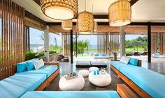 Villa Tantangan 3-bedroom villa in Bali faces south giving you a panoramic view of the sea and Nyanyi Beach with a cool beach vibe. #bali