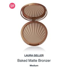 "HoldLaura geller baked matte bronzer One of the prettiest & hardest working matte bronzers I've seen in any brand! This one holds up to humidity like no other, hand baked & finished in Italy this color delivers the most beautiful bronze...NEVER orange!you can also swim, sun & still look sun kissed! Color is ""medium"". NEW/UNUSED/FULL SIZE NO! PP/NO! TRADES/other sites❌ price FIRM unless bundling NO! offers please❤️ YES! free gift w/purchase ALWAYS Laura Geller Makeup Bronzer"
