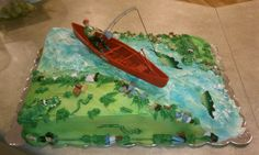 Fisherman Birthday Cake with crocodile    By Curtis-C-Cakes