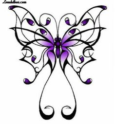 70324d930 Purple Butterfly Photo by. Tattoomaze · Gothic Butterfly Tattoo Designs