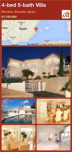 4-bed 5-bath Villa in Moraira, Alicante, Spain ►€1,700,000 #PropertyForSaleInSpain