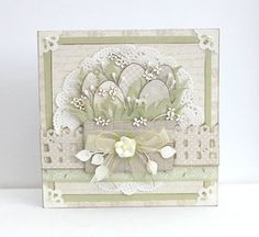 A Easter card by Johanna, featuring the Vintage Wedding collection Easter Greeting Cards, Greeting Cards Handmade, Easter Card, Card Making Inspiration, Making Ideas, Holiday Cards, Christmas Cards, Card Creator, Easter Religious