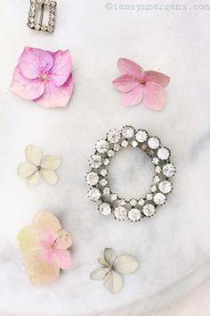 Pretty Rhinestone Flatlay Vintage sparkle with hydrangea petals Granny Chic, Some Times, Hello Everyone, Little Things, Pretty Little, Hydrangea, Sparkle, Branding, Wedding Ideas