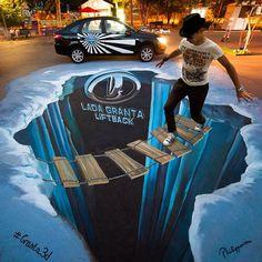 Incredible 3D street art by Philippenzo Madonnaro.|cutpasteStudio| Illustrations, Entertainment, beautiful,creativity, Art,Artist,Artwork, sculptures, street art, murals, graffiti art.
