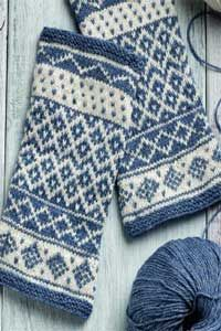 need 1 ball of 2 different colors of the Geilsk Cotton/Wool. Pattern does not indicate that each ball is used fully. inspiration fingerless mittens Vörå-Inspired Arm Warmers pattern by Carol Huebscher Rhoades Fingerless Gloves Knitted, Knit Mittens, Knitting Socks, Hand Knitting, Loom Knitting, Vintage Knitting, Fair Isle Knitting Patterns, Knitting Charts, Knitting Daily