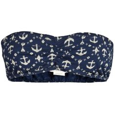 OBEY ANCHOR IKAT BANDEAU ($24) ❤ liked on Polyvore