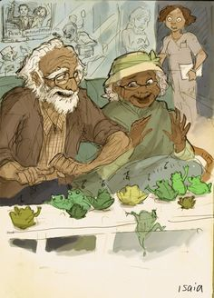 Black Fangirls Unite! Tiana and Naveen as old people. *This could be us but you keep playin'* (via locsgirl-deactivated20141225)