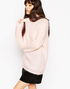 ASOS Mohair Jumper With Saddle Sleeve