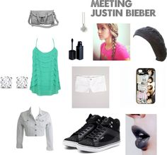 """""""MEETING JUSTIN BIEBER"""" by amayabrown ❤ liked on Polyvore"""